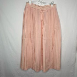 Joseph A bank vintage baby pink pleated skirt 10